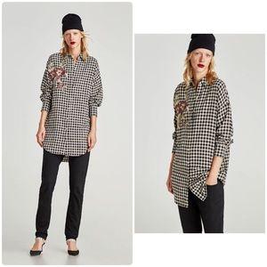 Zara Checked Shirt/dress